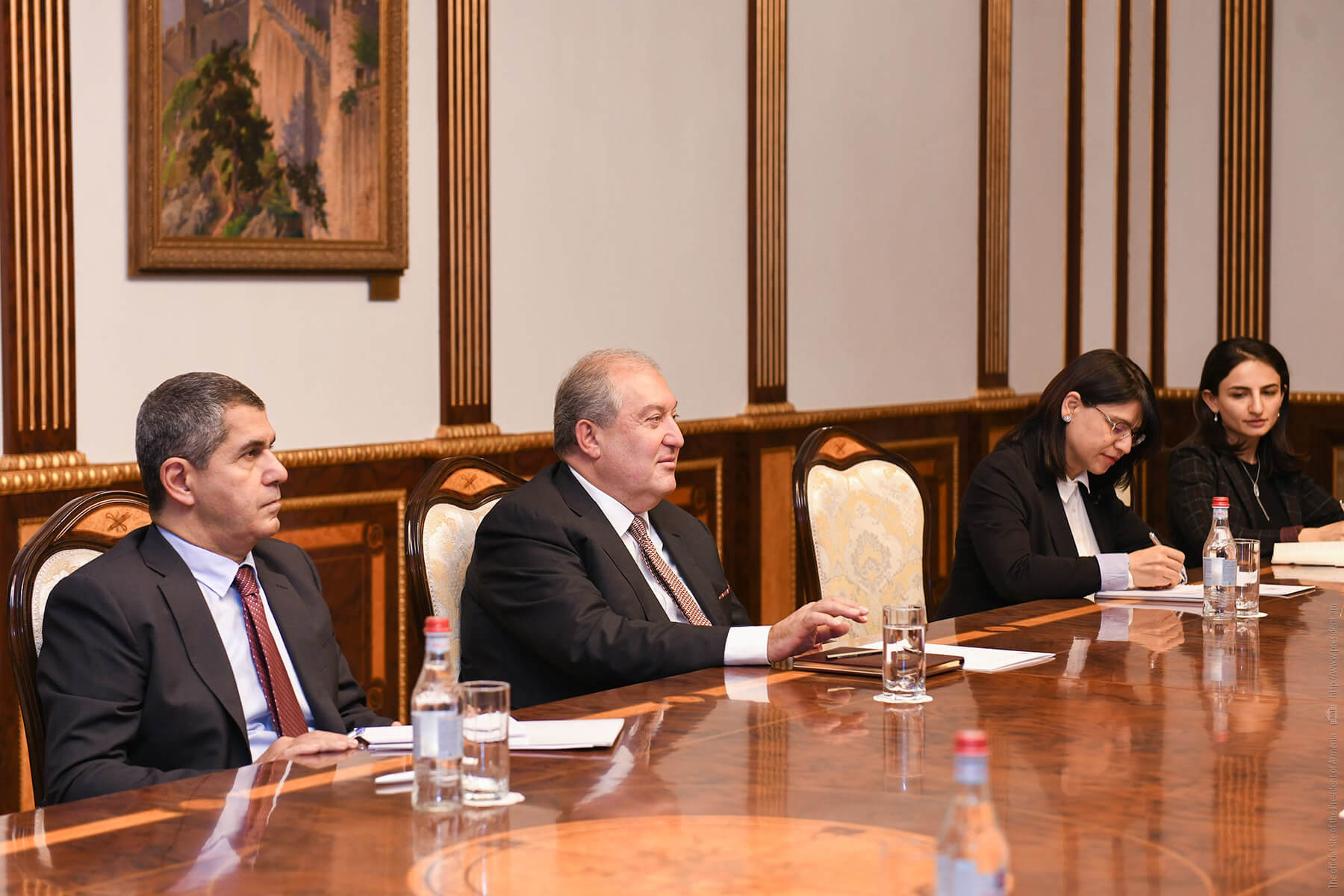 President Sarkissian Met With A Group Of Participants Of The Silicon Mountain Conference
